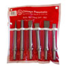 Chicago Pneumatic 6 Pc. 10, 2mm Round Shank Chisel Set