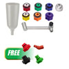 CTA Manufacturing Corporation 9Pc Oil Filling System W/ FREE 4Pc Oil Funnel Adapter Set