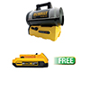 Enerco Cordless Propane Heater W/FREE 20V MAX* Compact XR Lithium-Ion Battery Pack