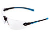 Encon Safety Products Inc Veratti 429, Black-Blue Frame, Clear Lens, ScratchCoat