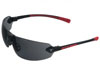 Encon Safety Products Inc Veratti 429, Black-Red Frame, Gray Lens, ScratchCoat