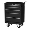 """Extreme Tools 26"""" 5 Drawer Roller Tool Cabinet, Black"""