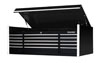 """Extreme Tools 15 Drawer 3 Bay 72"""" black Top Box For the ET  EX7217CHBK"""