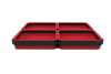 E-Z Red QUAD Expandable Magnetic Tray, Red