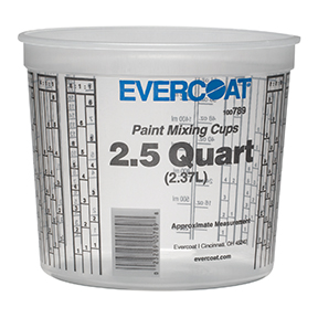 Fibre Glass-Evercoat 2.5 Quarts Paint Mixing Cups