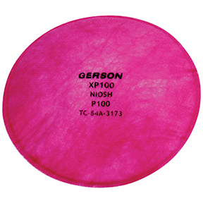 Gerson P100 Particulate Filter Pancake Disc, 2-Pack