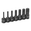 Grey Pneumatic 7-Piece 3/8 in. Drive Triple Square Impact Drive Socket Set