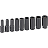 Grey Pneumatic 9-Piece 3/8 in. Drive 6-Point SAE Magnetic Deep Impact Socket Set