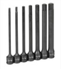 Grey Pneumatic 7-Piece 3/8 in. Drive SAE 6 in. Extended Length Hex Impact Drive Socket Set