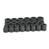 "Grey Pneumatic 1"" Drive 21 Pc. Standard Impact Set- 12 Point"