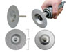 "Innovative Products of America 3/8"" Arbor with 1/4"" Shank Adapter,3-in-1 Diamond Grinding Wheels"