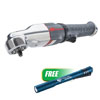 """Ingersoll Rand 3/8"""" Low-Profile Impact Air Ratchet Wrench w/FREE Stylus Pro® USB Rechargeable Penlight, Blue"""