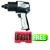 "Ingersoll Rand 1/2"" Super-Duty Air Impact Wrench W/ FREE 5 Pc. Flip Socket Set"