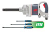 """Ingersoll Rand 1"""" D-Handle Impact Wrench w/FREE 3 Pc. Dominator Curved Blue Pry Bar Set"""