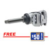 "Ingersoll Rand 1"" HD Extended Anvil Impact Wrench w/FREE $50 Gift Card"