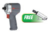 "Ingersoll Rand 1/2"" Ultra-Compact Impact Wrench w/FREE Mini Die Grinder"