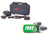 """Ingersoll Rand 3/8"""" Cordless Ratchet Wrench One Battery Kit w/FREE 3/8"""" Impact Wrench & Lithium-ion Battery"""