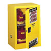 Justrite Manufacturing Company 12 Gallons Yellow Countertop and Compac Cabinets