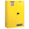 Justrite Manufacturing Company 45 Gallons Yellow Safety Cabinets for Flammables