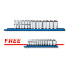 """GearWrench 14 Pc. 3/8"""" Dr. 6 Point Mid Length Metric Socket Set w/FREE 13Pc ¼¼ Dr. 6 Point Metric Socket Set"""