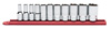 """GearWrench 11 Piece 3/8"""" Drive 6 Point SAE Mid Length Socket Set"""