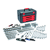 """GearWrench 239 Pc. 1/4"""", 3/8"""", 1/2"""" Drive Metric & SAE Socket and Ratchet Set with Storage Box"""