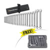 GearWrench 22PC METRIC LONG PATTERN WRENCH SET W/ FREE 20PC METRIC & SAE STUBBY WRENCH SET