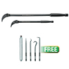 "GearWrench 2 Pc. Indexable Pry Bar Set, 8"" and 16"" W/FREE 5 Pc. Hook & Pick Set"