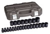 "GearWrench 25 Pc. 1/2"" Drive 6 Point Standard Impact Metric Socket Set"