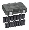 "GearWrench 19 Pc. 1/2"" Drive 6 Point Deep SAE Impact Socket Set"