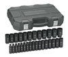 "GearWrench 29 Pc. 1/2"" Drive 6 Point Deep Metric Impact Socket Set"