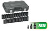 GearWrench 29Pc 1/2 Dr 6 Point Deep Impact Metric Socket Set w/FREE 3Pc 1/4, 3/8 & 1/2 Dr Impact Joint Pinless