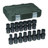 "GearWrench 15 Pc. 1/2"" Drive 6 Point Metric Universal Impact Socket Set"