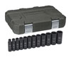 "GearWrench 12 Pc. 1/2"" Drive 6 Point Deep SAE Deep Impact Socket Set"