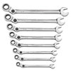 GearWrench SAE Indexing Combination Ratcheting Wrench Set, 8 pc