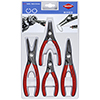Knipex Snap Ring Pliers Set w/ Spring Steel Tips, 4Pc