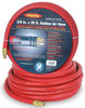 Legacy Manufacturing Company Workforce Air Hose, 3/8 in. x 25 ft., 1/4 Fittings, Rubber, Red