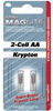 Mag Instrument Replacement Lamp for AA & AAA Mini MagLite - 2-Pack