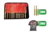Mayhew Tools 12 Pc. Brass Punch & Scraper Set w/FREE 3 Pc. Brass Pin Punch Set & FREE T-Shirt