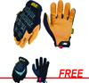 Mechanix Wear Material4X Original® Gloves, Black, Large with FREE FastFit® Elastic Cuff Gloves, Black, Large