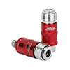 """MILTON MILTON 5 IN ONE UNIVERSAL SAFETY EXHAUST QUICK-CONNECT INDUSTRIAL COUPLER, 1/4"""" NPT"""