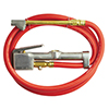 Milton Industries Inflator Gauge Complete with Dual-Head Straight Foot Chuck & 5' Hose.