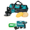 "Makita 7"" Polisher Kit w/ Wool Pads W/ 12V max CXT™ Lithium-Ion Cordless 3/8"" Driver-Drill Kit"