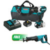 "Makita 18V LXT® Li-Ion Brushless High Torque 1/2"" Impact Wrench Kit w/FREE 1-1/8"" Reciprocating Saw Kit"
