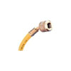 """Mastercool 72"""" Yellow Standard Charging Hose with 1/4"""" SAE Automatic Shut-Off Valve Fitting"""