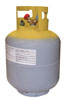 """Mastercool Yellow/Gray 1/2"""" ACME 50 lb. D.O.T-Approved Recovery Cylinder with Float Switch"""