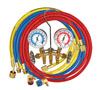 "Mastercool Brass R134a Manifold Gauge Set with (3) 60"" Hoses"