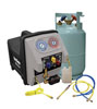 Mastercool 115V-60Hz Twin Turbo Refrigerant Recovery System w/ Oil Separation Module, Filter Dryer, Sight Glass