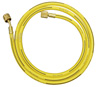 """Mastercool 72"""" Yellow R134a Hose with Shut-Off Valve, 1/2"""" Acme-F"""