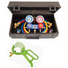 Mastercool Dual R134a/R12 Manifold Gauge Set with Manual Couplers